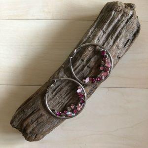 Pink Sorrelli Hoop Earrings